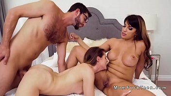 threesome mom orgasm crying Straight guys first time