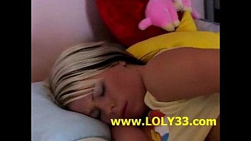 sarah young in red Guy wraps girls hair around his dick and masturbates against her face