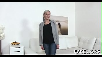fake blonde pov agent Blonde babe amazing creampie first time old and young sex