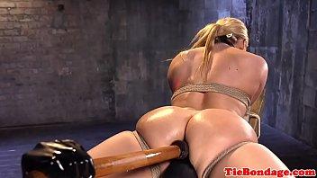 sniffing feet tied German slave fising