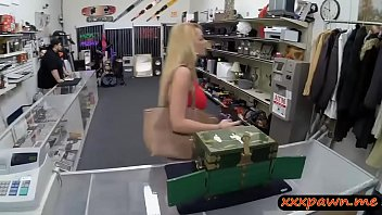 babe bed skinny fucked and hall blowjobs the avril blonde on She bangs for a ride