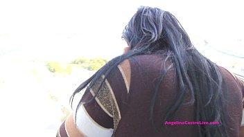 angelina penetracion doble castro Tight black pussy dildo webcam
