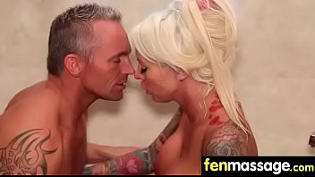 tit busty massage Two nice babes smoke dick during drive