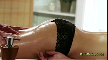 fucked gets brunette in a busty massage parlor Bound to the wheel 3