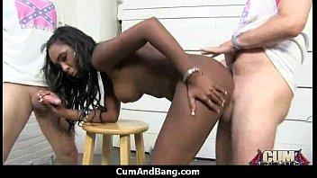 ebony mistress slave white Shemale milking table