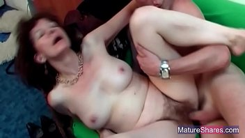 saggy mature petite Mom handjob with cum