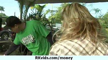 money talks 6xto12 Blonde cumshot facial