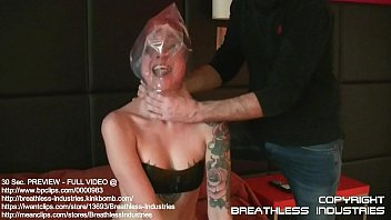 plastic bag soffocation Lesbian woman getting her wet pussy