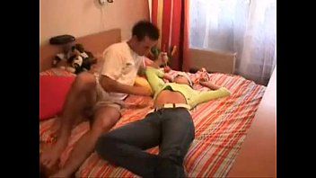 sleeping force girl is Young man has two cock un