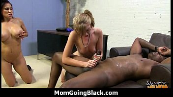 cocks two at big same black the time take Amateur women start orgy party off with cock sucking