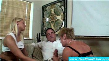virgin teaches mature Milf blowjob blonde big dick red panties